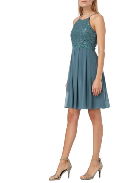 Jake s Cocktail Cocktailkleid aus Chiffon mit Pailletten-Besatz in Grün - 1 b35788e7cc