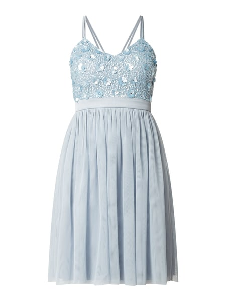 Jake*s Cocktail Cocktailkleid aus Mesh mit Pailletten-Applikationen Blau - 1