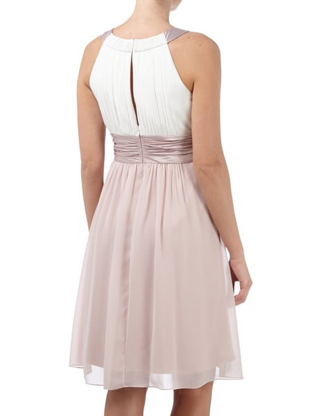 Jakes cocktail cocktailkleid mit collierkragen rosa meliert