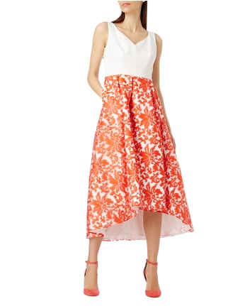 Jake*s Cocktail Cocktailkleid mit floralen Stickereien in Orange - 1