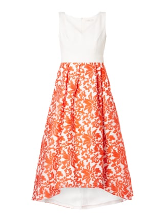 Cocktailkleid mit floralen Stickereien Orange - 1