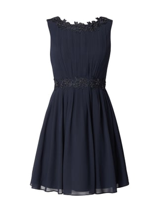 Jake s Cocktail Cocktailkleid mit floraler Stickerei Blau   Türkis - 1 ... ef448e415c