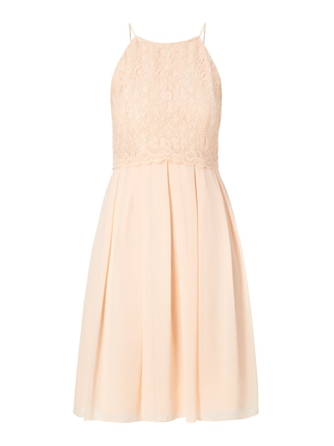 Cocktailkleid mit Pailletten-Besatz Orange - 1
