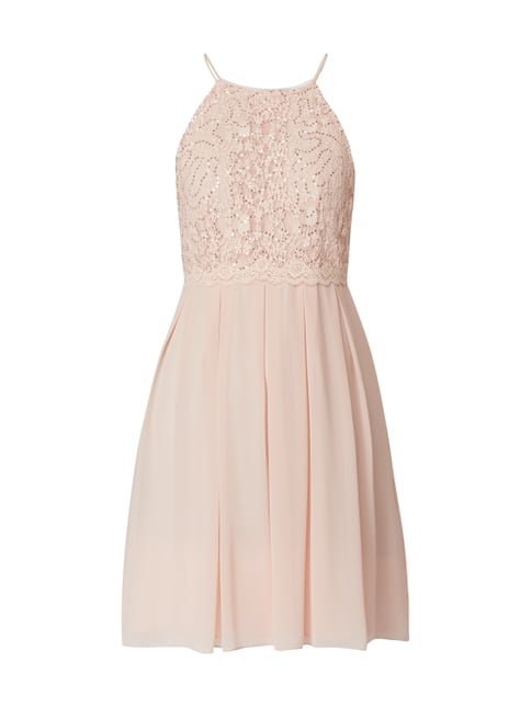 Jake s Cocktail Cocktailkleid mit Pailletten-Besatz Rosé - 1 ... b3cbf74d66