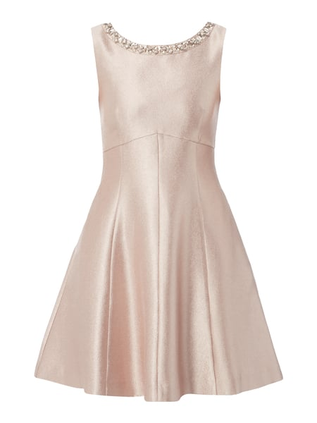 Jake*s Cocktail Cocktailkleid mit Ziersteinen Metallic Rosa meliert