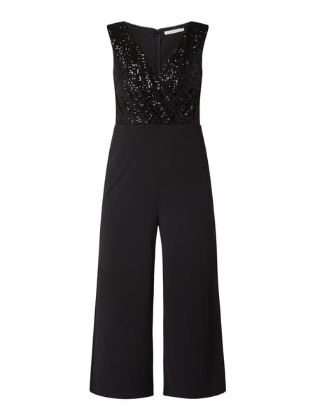 Jake*s Cocktail Jumpsuit in 7/8-Länge mit Pailletten Schwarz - 1