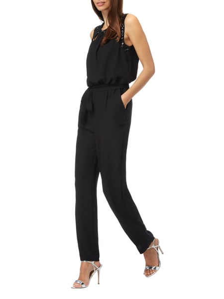 jakes cocktail jumpsuit mit pailletten besatz in grau schwarz online kaufen 9726859 p c. Black Bedroom Furniture Sets. Home Design Ideas