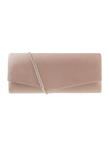 Jake*s Cocktail Kuvert-Clutch aus Satin Sand meliert