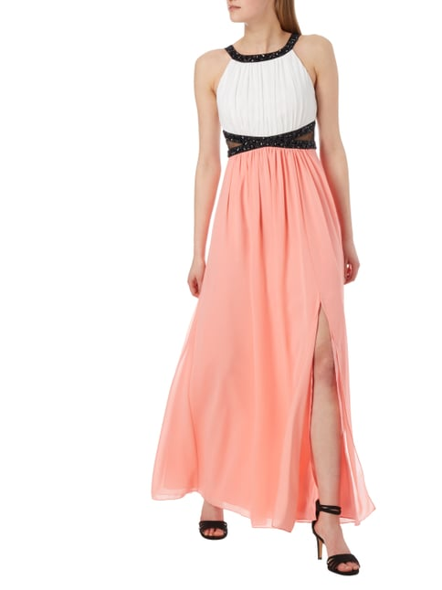 Jake*s Cocktail Two-Tone-Abendkleid aus Chiffon in Orange - 1