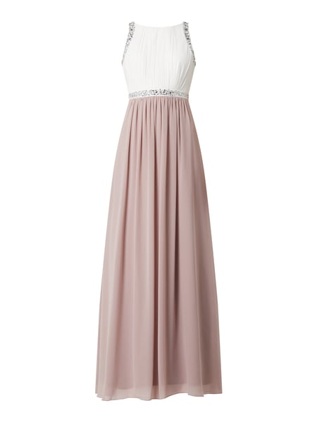 Jake*s Cocktail Two-Tone-Abendkleid aus Chiffon Rosa - 1