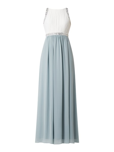 Jake*s Cocktail Two-Tone-Abendkleid aus Chiffon Grün - 1