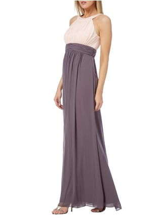 Jake*s Cocktail Two-Tone-Abendkleid aus Chiffon in Braun - 1