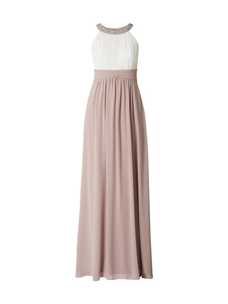 Jake*s Cocktail Two-Tone-Abendkleid mit Blüten-Applikationen Lila - 1