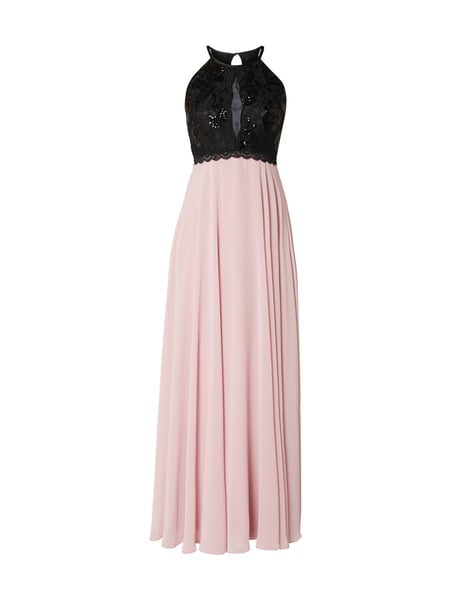 a8c56a197bca52 JAKES-COCKTAIL Two-Tone-Abendkleid mit Pailletten-Besatz in Rosé ...