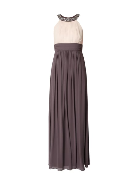 Jake*s Cocktail Two-Tone-Abendkleid mit Ziersteinbesatz Rosé - 1