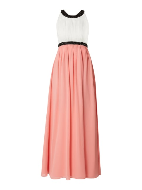 63a3fcc029c62c Jake*s Cocktail Two-Tone-Abendkleid mit Ziersteinbesatz Rot - 1 ...