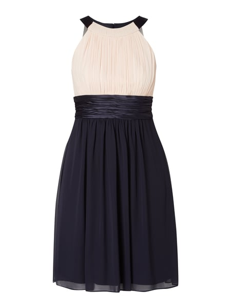 Jake*s Cocktail Two-Tone-Cocktailkleid aus Chiffon Blau - 1