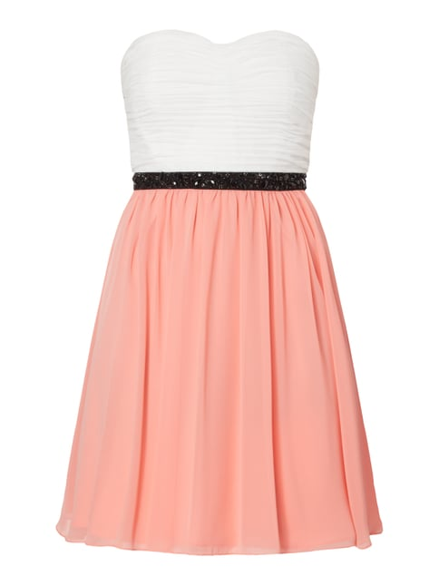 Two-Tone-Cocktailkleid aus Chiffon Orange - 1