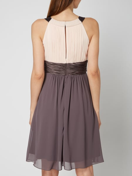 Cocktailkleid chiffon taupe