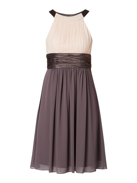 Jake*s Cocktail Two-Tone-Cocktailkleid aus Chiffon Beige - 1
