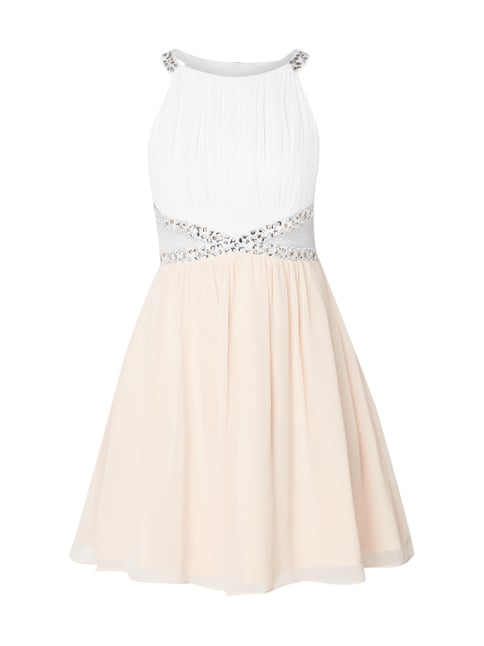 44103e7ba7e7ff Jake s Cocktail Two-Tone-Cocktailkleid mit Plisseefalten Rosé - 1 ...