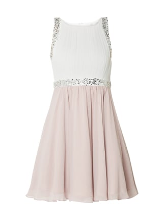 Jake s Cocktail Two-Tone-Cocktailkleid mit Ziersteinbesatz Lila - 1 ... 09505b7dbd