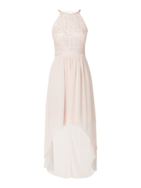 Jake*s Cocktail Vokuhila Cocktailkleid mit Pailletten-Applikation Rosa - 1