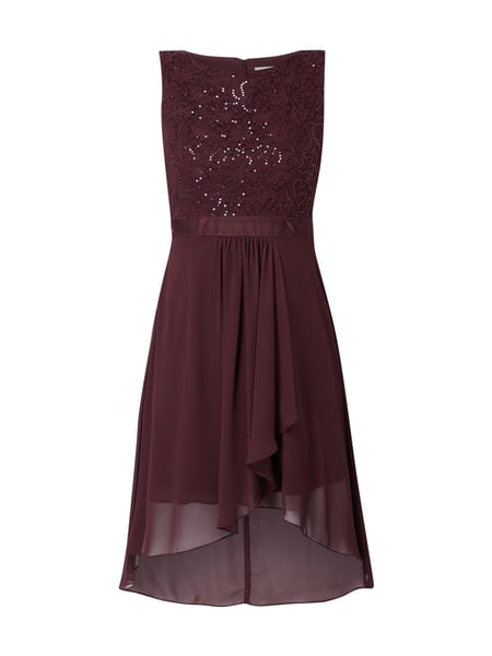 Jake*s Cocktail Vokuhila Cocktailkleid mit Pailletten Rot - 1