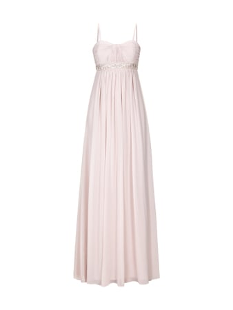 Jake*s Collection Abendkleid mit Perlenbesatz Rosa - 1