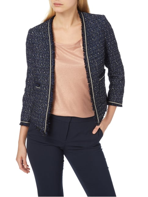 Jake*s Collection Blazer aus Bouclé Marineblau - 1