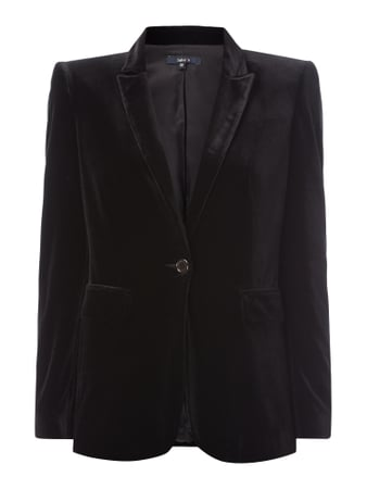 Jake*s Collection Blazer aus Samt Grau / Schwarz - 1