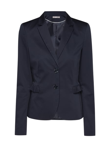 Jake*s Collection Blazer mit Faltenrüschen Marineblau