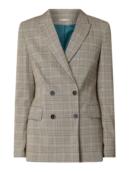 Jake*s Collection Blazer mit Glencheck-Dessin Beige - 1
