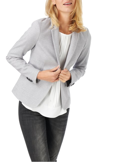 Jake*s Collection Blazer mit Webstruktur Hellgrau - 1