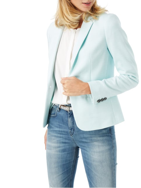 Jake*s Collection Blazer mit Webstruktur Mint - 1