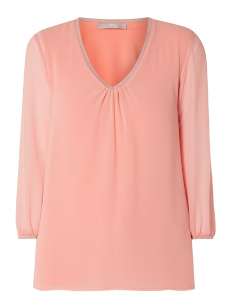 Jake*s Collection Blusenshirt aus Chiffon mit V-Ausschnitt Orange - 1