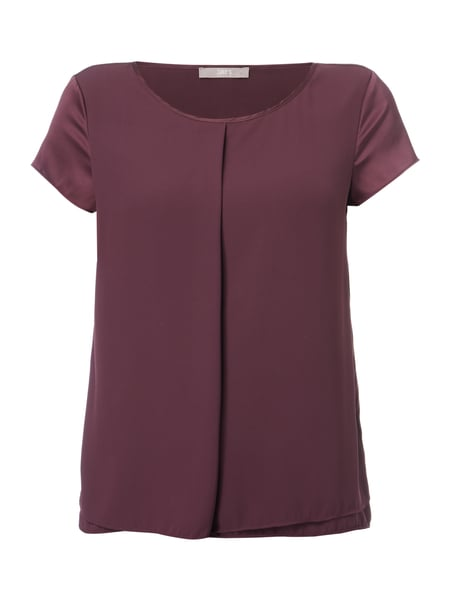Jake*s Collection Blusenshirt aus Satin mit gelegter Falte Purple