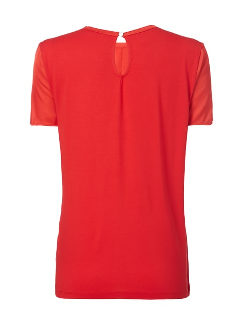 Jake*s Collection Blusenshirt mit Zierleiste Rot - 1