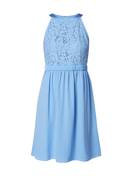 Jake*s Collection Cocktailkleid mit floraler Spitze Blau / Türkis - 1