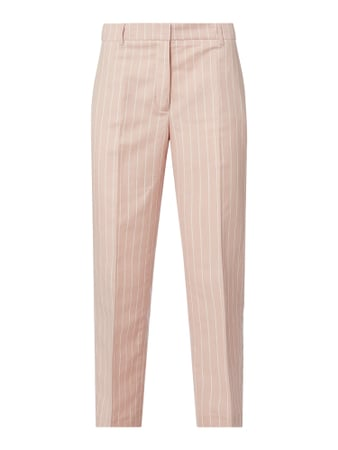 Jake*s Collection Cropped Stoffhose aus Leinenmischung Rosa - 1
