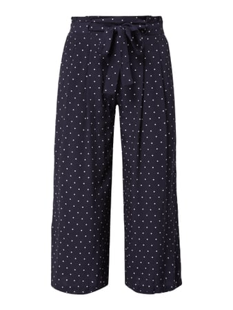 Jake*s Collection Culotte mit Punktemuster Blau - 1