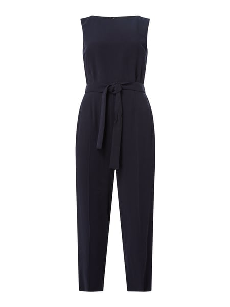 Jake*s Collection Jumpsuit mit Taillenband Blau - 1