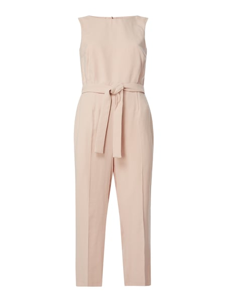 Jake*s Collection Jumpsuit mit Taillenband Rosa - 1