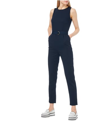 Jake*s Collection Jumpsuit mit Taillengürtel in Blau / Türkis - 1