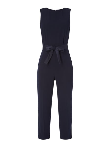 Jake*s Collection Jumpsuit mit Taillengürtel zum Binden Blau - 1