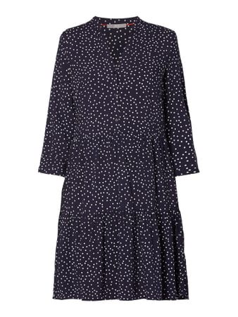 Jake*s Collection Kleid aus Viskose mit Punktemuster Blau - 1
