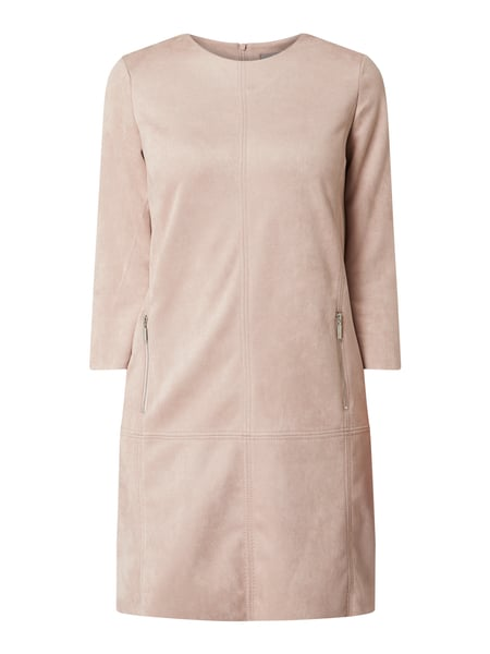 Jake*s Collection Kleid in Veloursleder-Optik Rosa - 1
