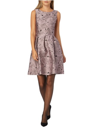 Jake*s Collection Kleid mit Jacquardmuster in Lila - 1