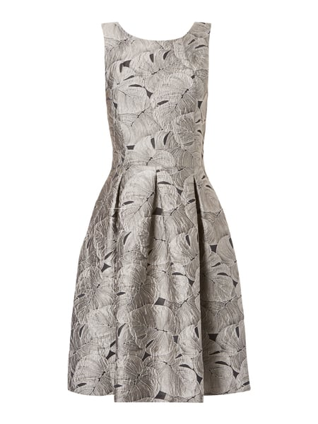 Jake*s Collection Kleid mit Jacquardmuster Grau - 1