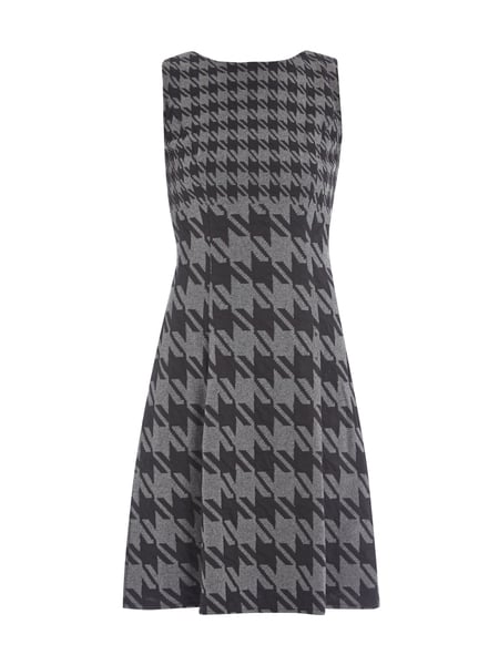 Pepita Muster jakes collection kleid mit pepita muster in grau schwarz
